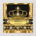 crown king prince queen royal gold diamond party 2 invitation