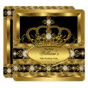 crown king prince queen royal gold diamond party invitations