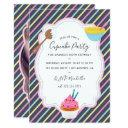cupcake baking birthday party add photo invitations