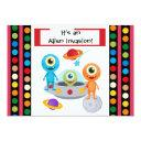 custom alien invastion birthday invitations