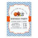 custom an all-star sport birthday party invitation