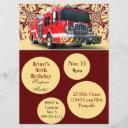 custom firefighter birthday invitations
