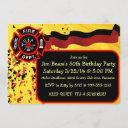 custom firefighter birthday party invitations