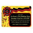 custom firefighter birthday party invitations