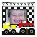 custom monster truck photo birthday invitations