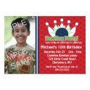 custom photo bowling birthday party invitation