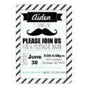 customizable mustache party invitations