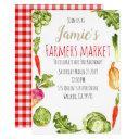 cute farmers market birthday party invitation
