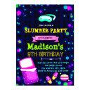 cute glow slumber birthday party invitation