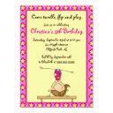 cute gymnastic birthday party invitations