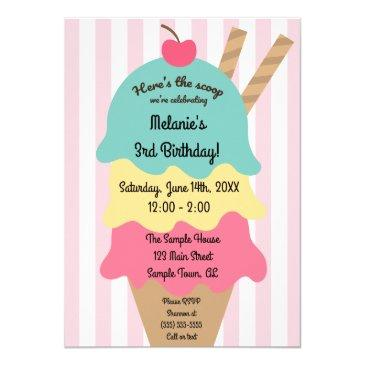 cute ice cream birthday invitations