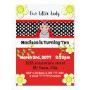 cute little lady bug birthday party invitations