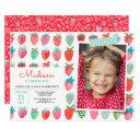 cute red birthday party | strawberry spring invitations