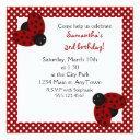 cute red ladybugs birthday invite