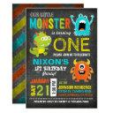 cute scary little monsters birthday invitations