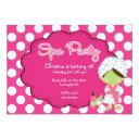 cute spa day birthday party invitations