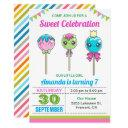 cute sweet lollipop candy land birthday party invitation