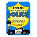 cute trendy police car birthday invitations