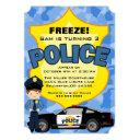 cute trendy police car birthday invitation