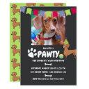 dachshund dog birthday photo invitations