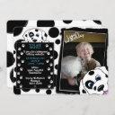 dalmatian photo birthday invitations