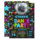 dance party invitation glow disco party invite