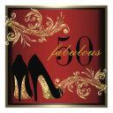 dancing shoes - fabulous 50th birthday invitations