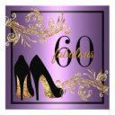 dancing shoes - fabulous 60th birthday invitations