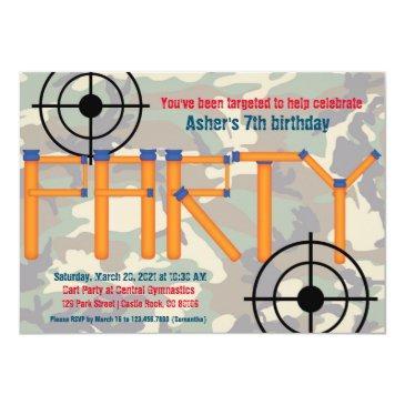 dart party birthday invitation