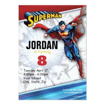 dc comics | superman - birthday invitations
