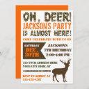deer hunting birthday invitation | camo party