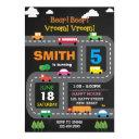 digital printable transport birthday invitations