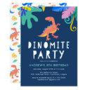 dinomite | dinosaur birthday party invitations