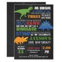 dinosaur birthday invitation boy chalkboard rawr