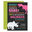 dinosaur birthday invitations girl dinosaur party