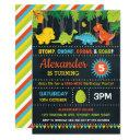 dinosaur birthday party roar chalkboard dino-mite invitations