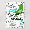 dinosaur boy birthday invitation