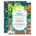 dinosaur dig birthday party invitations