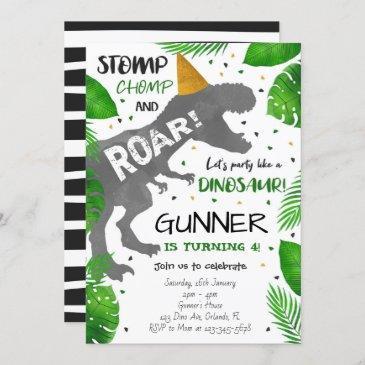 dinosaur invitation, dinosaur birthday invites