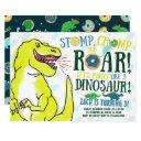 dinosaurs and donuts birthday party invitations