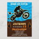 dirtbike birthday invitation motocross party boy