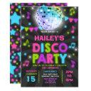 disco party invitation glow disco party invite