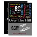 diy age | 80th happy birthday | milestone invitation