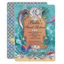 dolphin mermaid under the sea party invitations