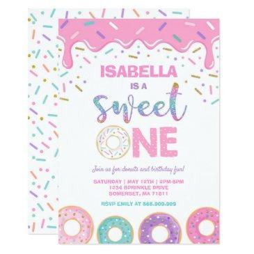 donut 1st birthday invitation donut sweet one