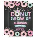 donut grow up birthday invitation donut & unicorn