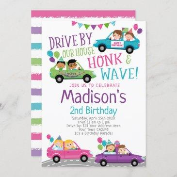 drive by, birthday parade invitation