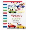 drive by, birthday parade invitation
