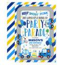drive by birthday parade invitation police parade