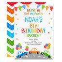 drive by invitation, birthday invites